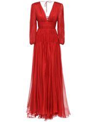 Maria Lucia Hohan - Длинное Шелковое Платье - Lyst