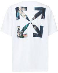Off-White c/o Virgil Abloh T-shirt Aus Jersey Mit Caravaggiodruck - Weiß