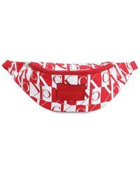 Calvin Klein Gürteltasche Aus Nylon Mit Logo - Rot