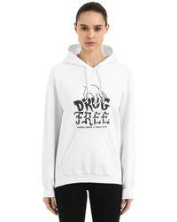 Andrea Crews Pablo Cots Drug Free Hooded Sweatshirt - White