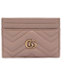 Gucci - Gg Marmont Quilted Leather Card Holder - Lyst