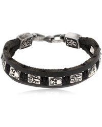 Cantini Mc Firenze - Florentine Silver & Leather Bracelet - Lyst
