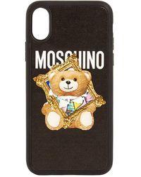 Moschino Iphone Xs Max-cover Mit Teddydruck - Schwarz