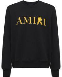Amiri Reverse Playboy ジャージースウェットシャツ - ブラック