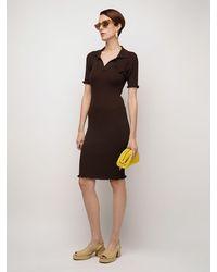 Bottega Veneta Трикотажное Платье Из Шерсти - Коричневый