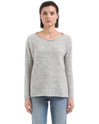 Transit - Cropped Wool Blend Knit Sweater - Lyst
