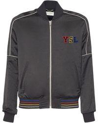 Saint Laurent Куртка Teddy С Аппликациями - Черный