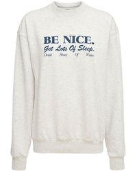 Sporty & Rich Be Nice スウェットシャツ - グレー