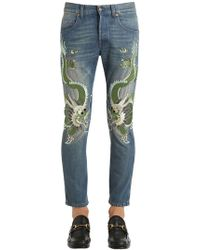 Gucci | 17.5cm Dragon Stone Washed Jeans | Lyst