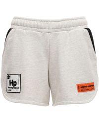 Heron Preston Jogging-shorts Aus Baumwolljersey - Weiß