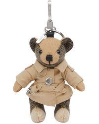 Burberry Подвеска Thomas Trench Teddy - Естественный