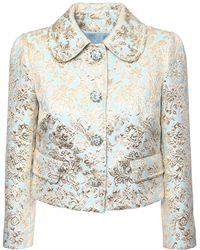 Dolce & Gabbana - ジャカードラメクロップドジャケット - Lyst