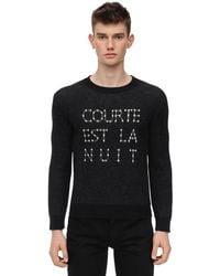 Saint Laurent Courte Est La Nuit ウール混セーター - ブラック