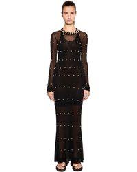 Sonia Rykiel Embellished Knit Dress - Black