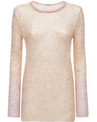 Miu Miu Sweater Aus Mohairmischstrick - Pink