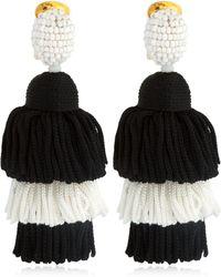 Oscar de la Renta - Long Silk Tassel Earrings - Lyst