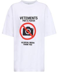 Vetements - コットンジャージーtシャツ - Lyst