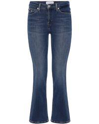 Calvin Klein クロップドフレアジーンズ - ブルー