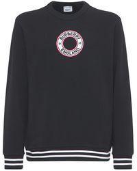 Burberry コットンジャージースウェットシャツ - ブラック