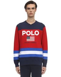 Polo Ralph Lauren コットンブレンドスウェットシャツ - レッド