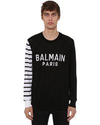 Balmain コットンニットセーター - ブラック