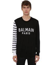 Balmain - コットンクルーネックセーター - Lyst