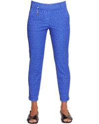 Incotex | Kayle Cotton Jacquard Trousers | Lyst