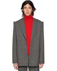Balenciaga Пиджак Из Шерсти - Серый