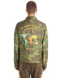 Lyst hype coach jacket with world map print in blue for men maharishi world tour quilted camo nylon jacket lyst gumiabroncs Choice Image