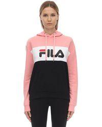 Fila Sweat-Shirt En Coton Mélangé À Capuche - Rose