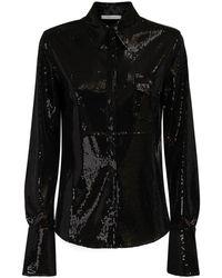 Peter Do スパンコールシャツ - ブラック