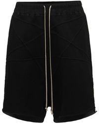 Rick Owens Shorts Pentagram De Algodón Jersey - Negro