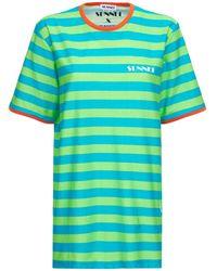 Sunnei コットンジャージーtシャツ - グリーン