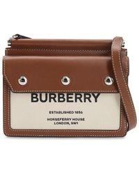 "Burberry - Сумка Из Кожи И Канвас ""title Pocket"" - Lyst"