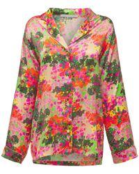 Stella McCartney Haut De Pyjama En Soie Imprimée Ava Cheering - Multicolore