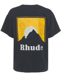 Rhude Moonlight コットンtシャツ - ブラック