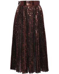 Dolce & Gabbana - プリーツスパンコールスカート - Lyst