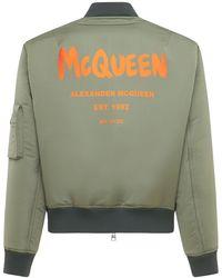 Alexander McQueen - ナイロンボンバージャケット - Lyst