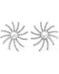 Alessandra Rich Crystal Star Clip-on Earrings - Mettallic