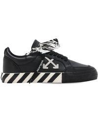 Off-White c/o Virgil Abloh Neue Sneakers Aus Vulkanisiertem Leder Mit Logo - Schwarz