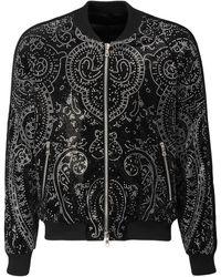 Balmain Бархатная Куртка Paisley - Черный
