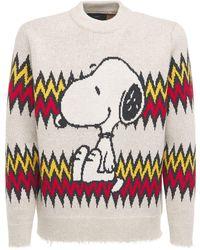 Alanui Snoopy Plays ウール&カシミアセーター - マルチカラー