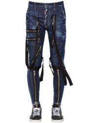 DSquared² - Jeans Military In Denim Di Cotone 15cm - Lyst