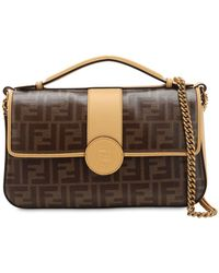 Fendi - Double Ff Baguette Leather Shoulder Bag - Lyst