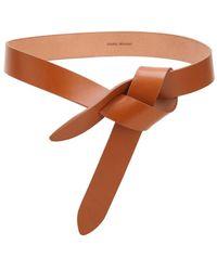 Isabel Marant Lecce Leather Belt - Natural