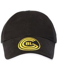 Balenciaga Baseballkappe Aus Baumwolle Mit Logo - Schwarz