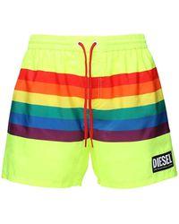 DIESEL Pride Rainbow テック水着 - グリーン
