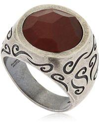 Marco Dal Maso - Ara Engraved Silver Ring W/ Tiger's Eye - Lyst
