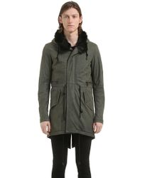Giorgio Brato | Long Hooded Leather Parka W/ Fur Lining | Lyst