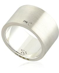 Le Gramme - Le 19 Brushed Sterling Silver Ring - Lyst